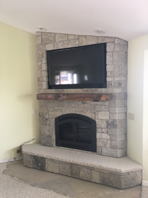 Custom Fireplace Design - After Grand Traverse Leisure