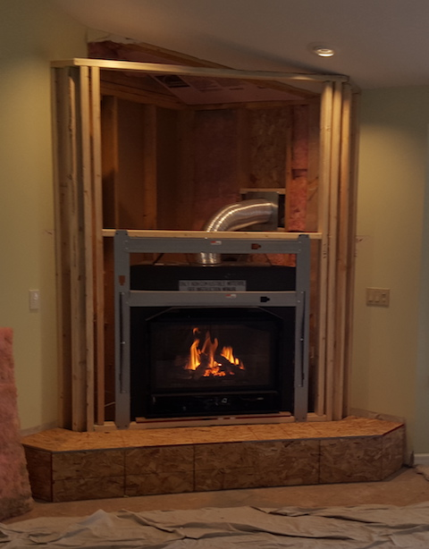 Fireplace Custom Design - Before Grand Traverse Leisure